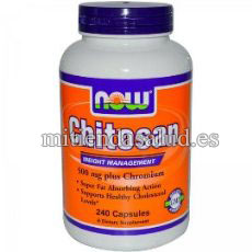 Chitosan con cromo 500mg Now foods 120 capsulas