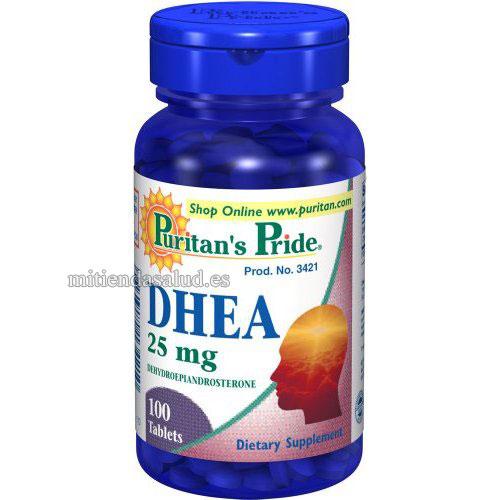 DHEA 25mg Puritans Pride 250 comprimidos