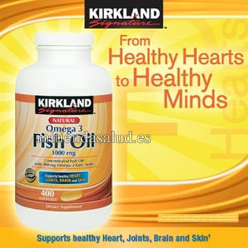 Omega 3 aceite de pescado 1000mg kirkland signature for Fish oil para que sirve
