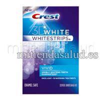 CREST 3D WHITE : Whitening tiras brillantes 10 tratamientos de blanqueamiento