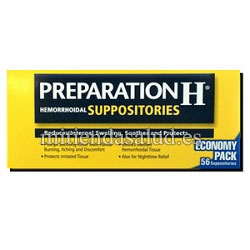Preparation H Hemorroides Suppositories 56 suppositories