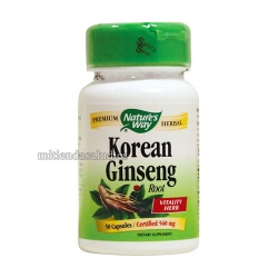 Ginseng Coreano Nature's way 100 capsulas