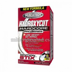Hydroxycut Hardcore Pro Series Ignition Stix Fruit Punch 40 pckts MuscleTech