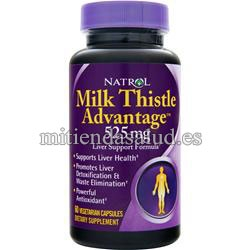 Milk Thistle Advantage 525 mg Natrol 60 tabletas