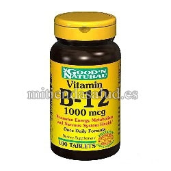 Vitamina B12 1000 mcg Good'N Natural 100 comprimidos