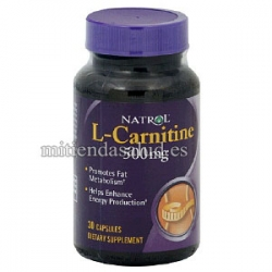 L-carnitina 500mg Natrol 30 tabletas