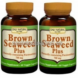 LOTE de DOS ALGAS PARDAS - BROWN SEAWEED PLUS 700 mg - 60 Capsulas